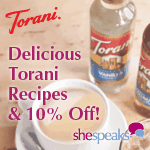 SheSpeaks Save on Torani