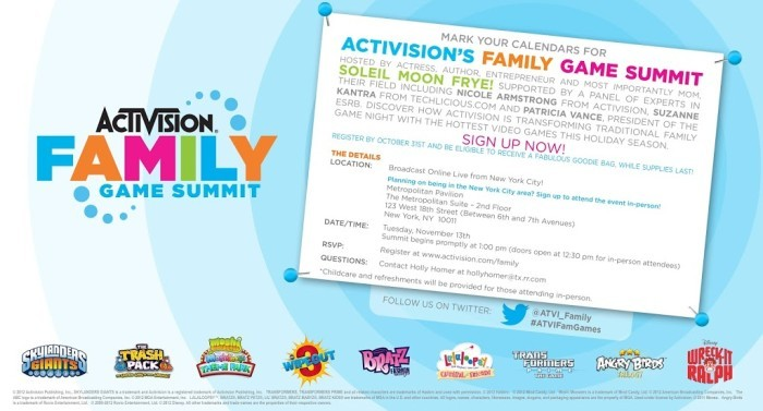 The Activision Family Game Summit is Coming!!