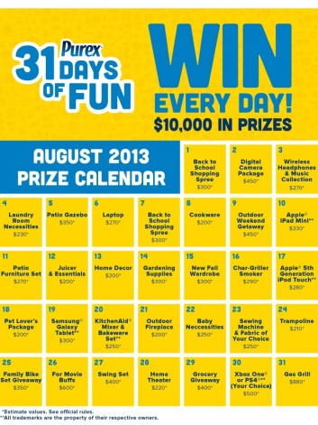 Are you Entering the Purex 31 days of Fun?