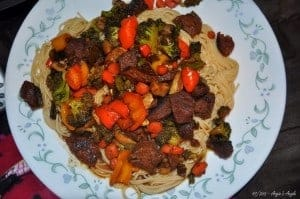 Day 47 - Yummy Dinner - Beef Stir-Fry - Angie's Angle