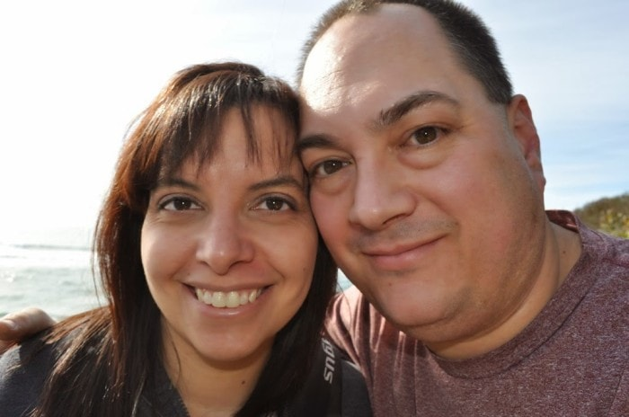 Jason and Angie on the beach