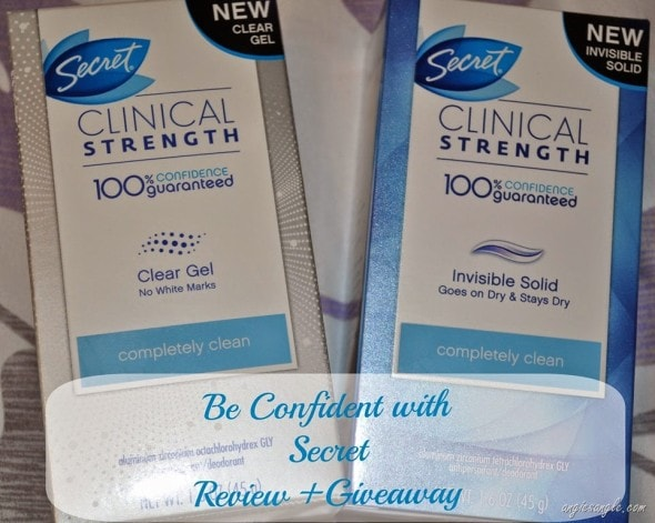 Be Confident with Secret Clinical Strength Deodorant Review +Giveaway ends 5/7