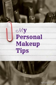 My Personal Makeup Tips