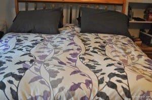 Purple & Black Duvet