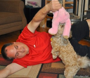 Day 149 - Playtime with Daddy  Pink Bear Time (1)