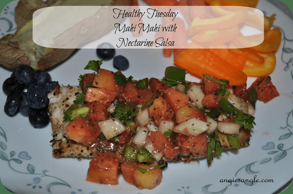 Mahi Mahi with Nectarine Salsa - Finished Plate