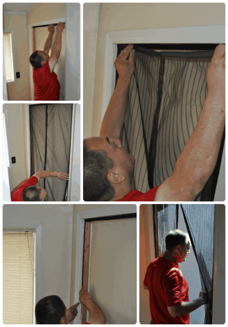 Magnetic Screen Door - Installation