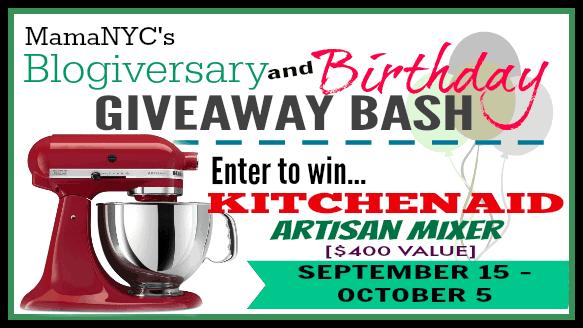 Blogiversary/Birthday KitchenAid Artisan Mixer Giveaway ends 10/5/14 #WinKitchenAid