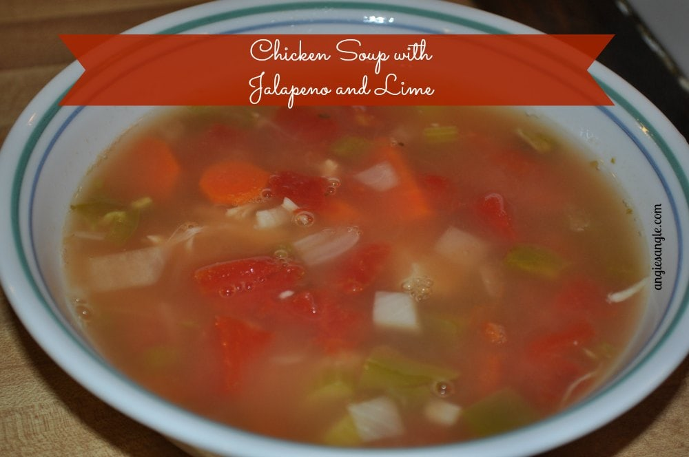Chicken Soup with Jalapeno and Lime