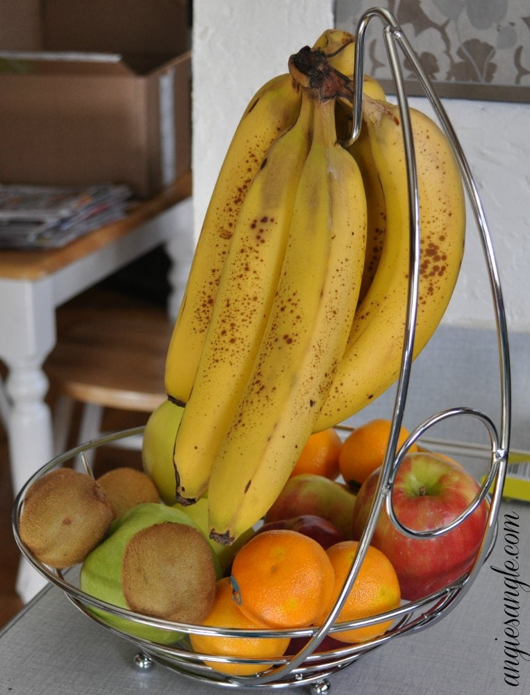 Fruit Basket with Banana Holder - Back View