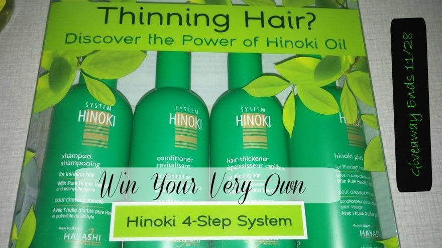 Hinoki 4-Step System for Thinning Hair - Giveaway