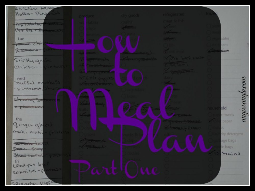 How to Meal Plan – Part One – Healthy Tuesday #HealthyTuesday