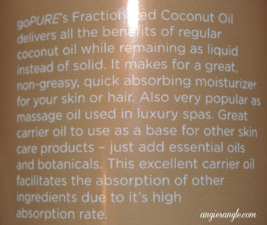 Factionated Coconut Oil - Uses
