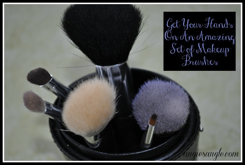 Makeup Brush Set with Brush Holder #BeautyMonday