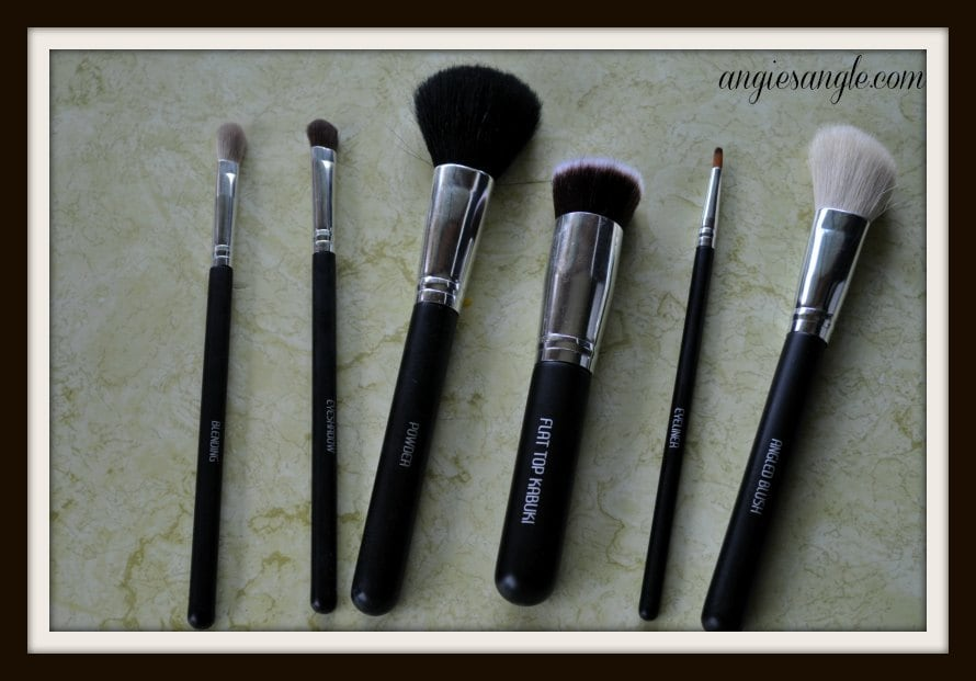 makeup brushes - laying flat