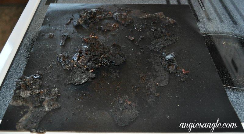 BBQ Grill Mats with Burnt Gunk