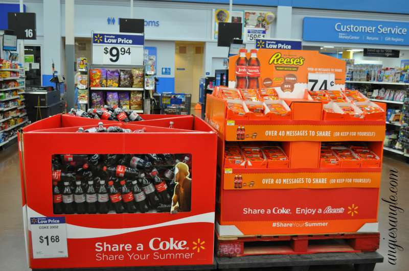 Pampering and Sharing With The Best Friend - Coke and Reeses Display