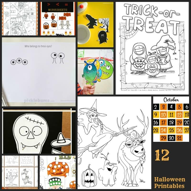 12 Halloween Printables At Your Fingertips