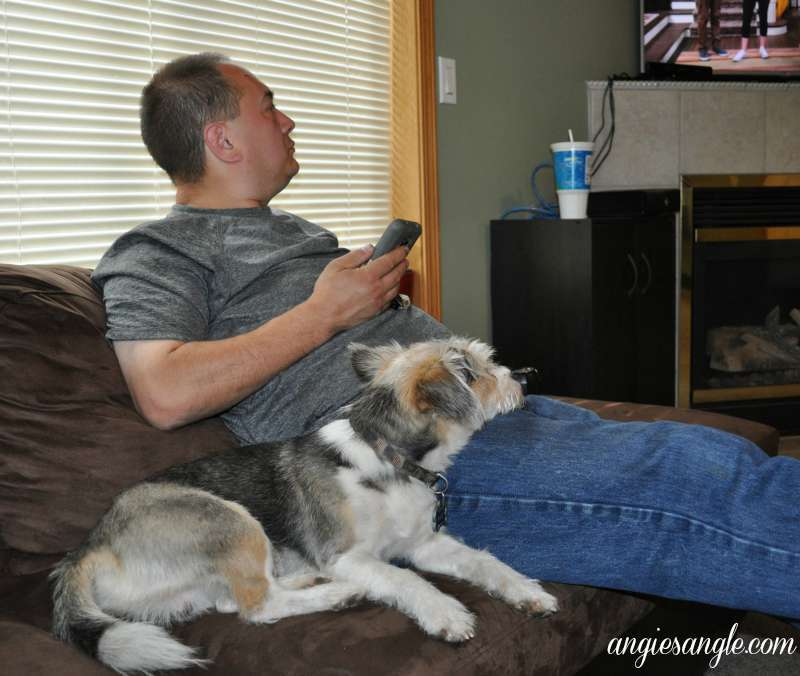 Catch the Moment 365 - Day 242 - Sam and Jason watching Tv