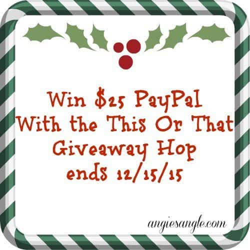 This or That Giveaway Hop - 25 PayPal