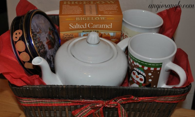How To Make A Tea Lovers Basket - Tea Basket Complete