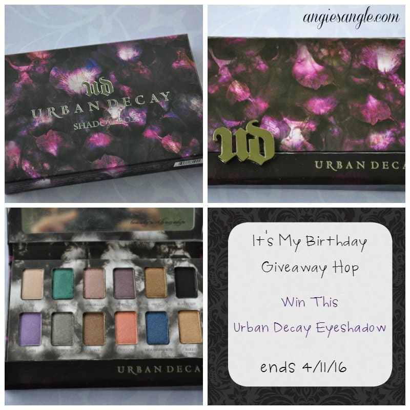 Win Urban Decay Eyeshadows ends 4/11/16 #HappyBirthday