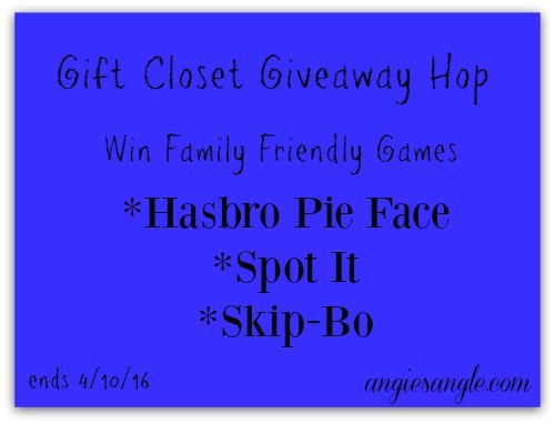 Win Family Friendly Games ends 4/10/16 #GiftCloset