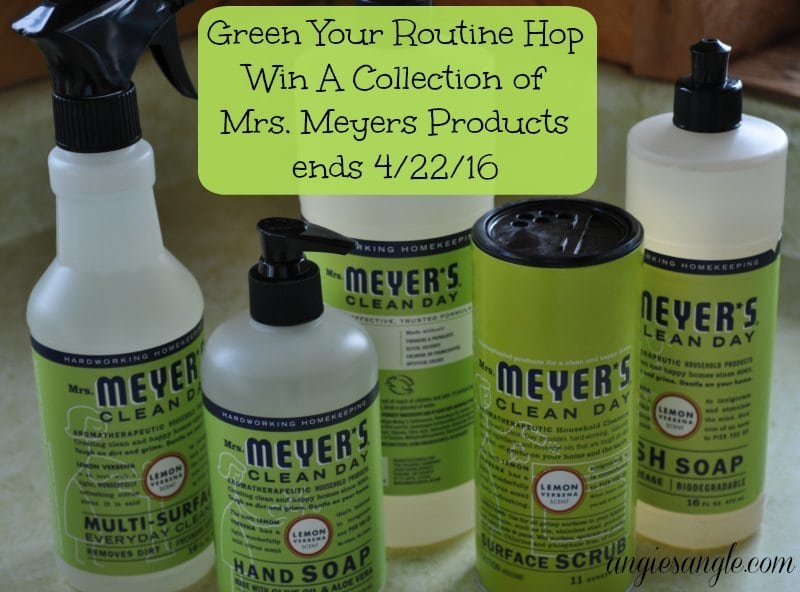 Green Your Routine Hop - Win Mrs Meyers
