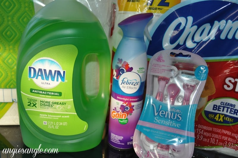 P&G Products From Walmart- Dawn Febreze and Gillette