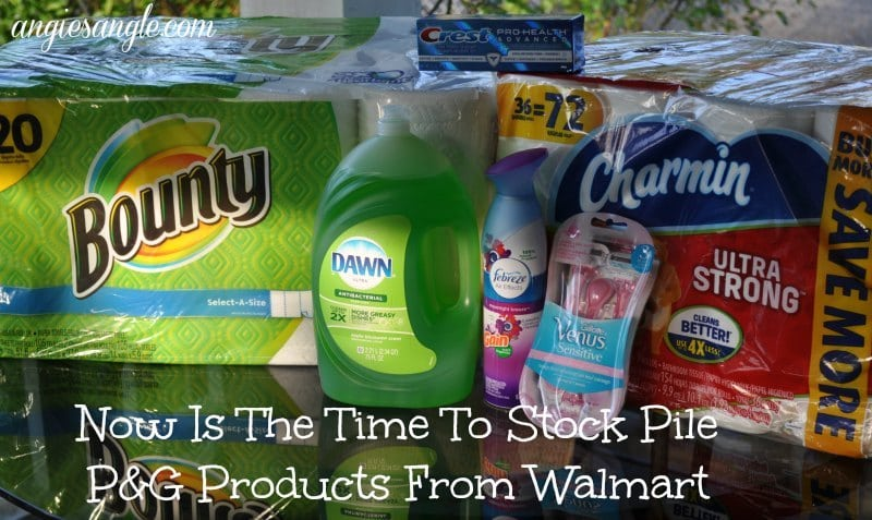 Now Is The Time To Stock Pile P&G Products From Walmart #StockUpSave