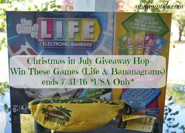 Christmas in July Giveaway Hop - Life and Bananagrams