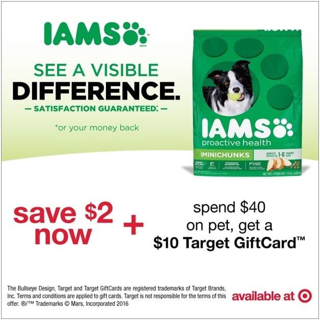 Iams Savings at Target