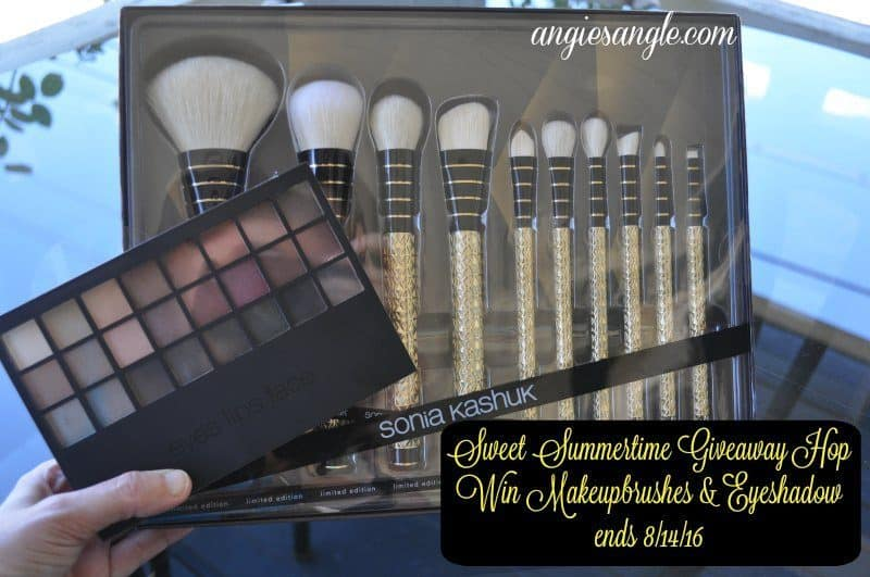 Sweet Summertime Giveaway Hop - Makeup Brushes & Eyeshadow