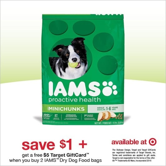 IAMS Dog Food Savings at Target