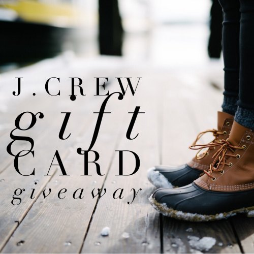 J. Crew Gift Card Giveaway ends 1/5/17