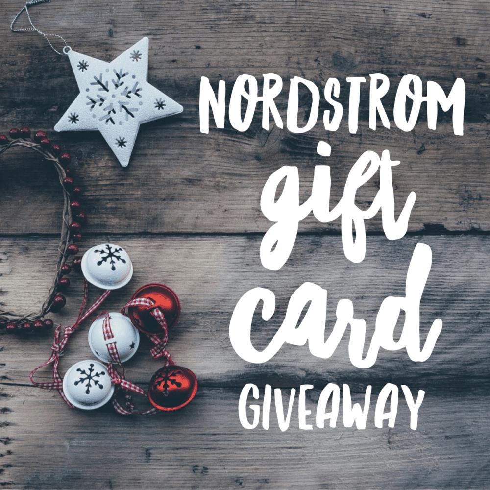 $200 Nordstrom Gift Card Giveaway ends 1/3/17