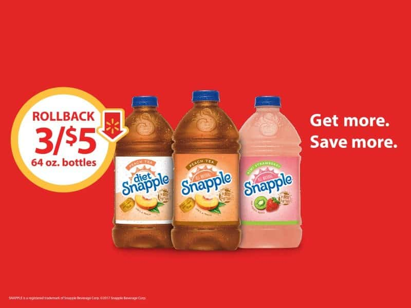 Snapple for Just $5 at Walmart