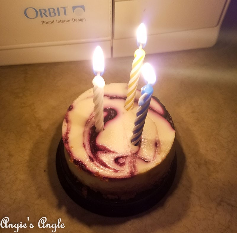 2017 Catch the Moment 365 Week 45 - Day 315 - Jasons Birthday Cheesecake