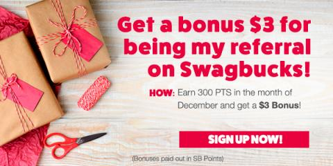 Sign up with Swagbucks in December