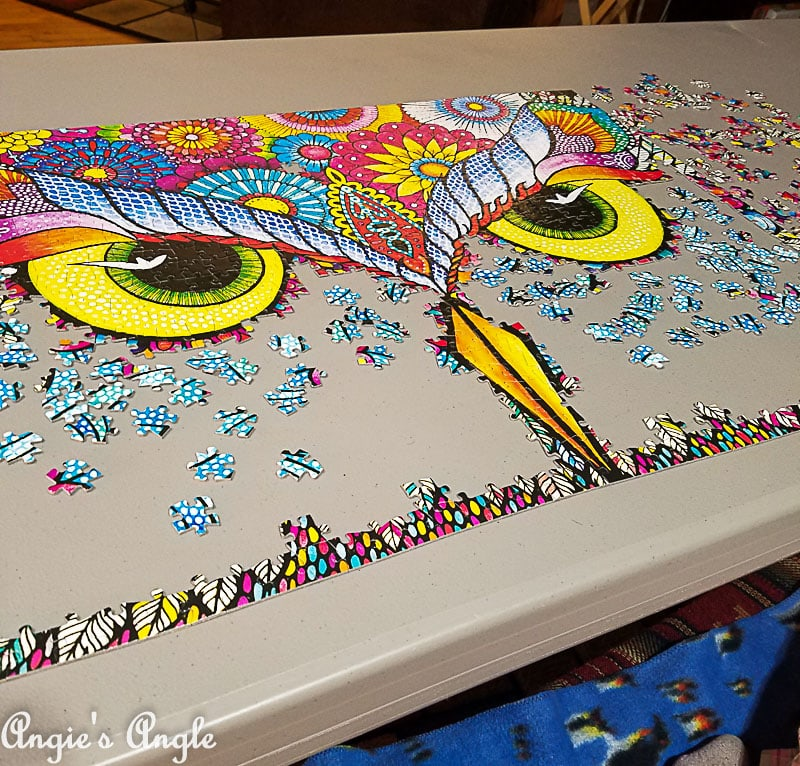 2018 Catch the Moment 365 Week 12 - Day 78 - Working on the Owl Jigsaw Puzzle