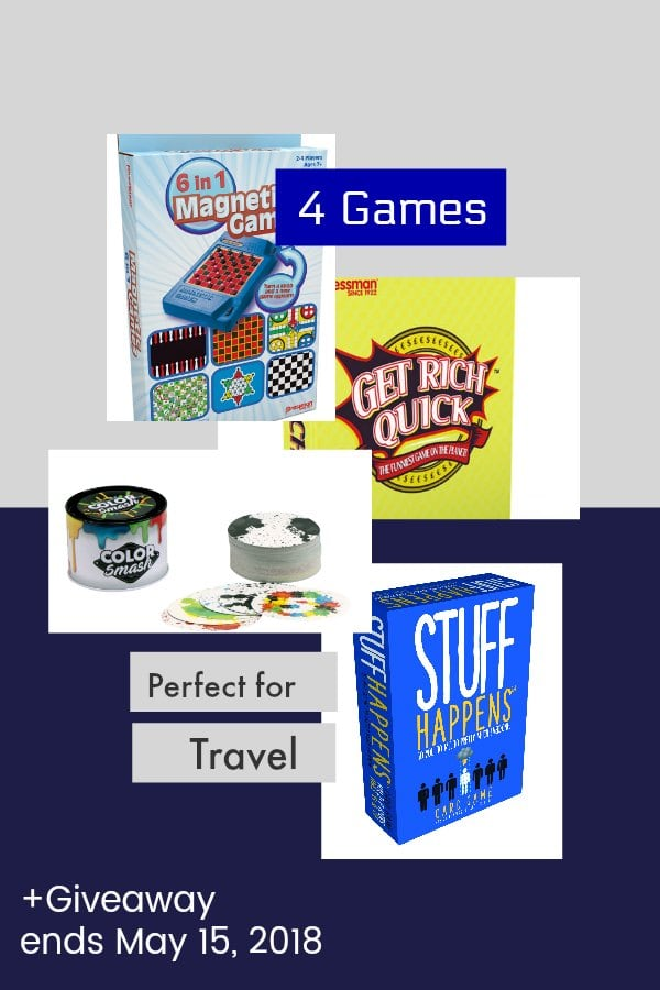 The 4 Travel Games to Make the Trip Better +Giveaway ends May 15, 2018
