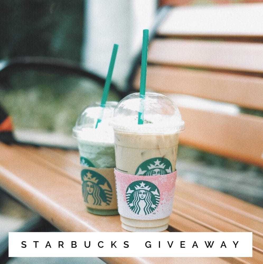 May Starbucks Instagram Giveaway ends June 1, 2018
