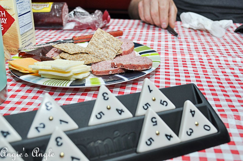 2018 Catch the Moment 365 Week 25 - Day 172 - TriOminos and a Snack