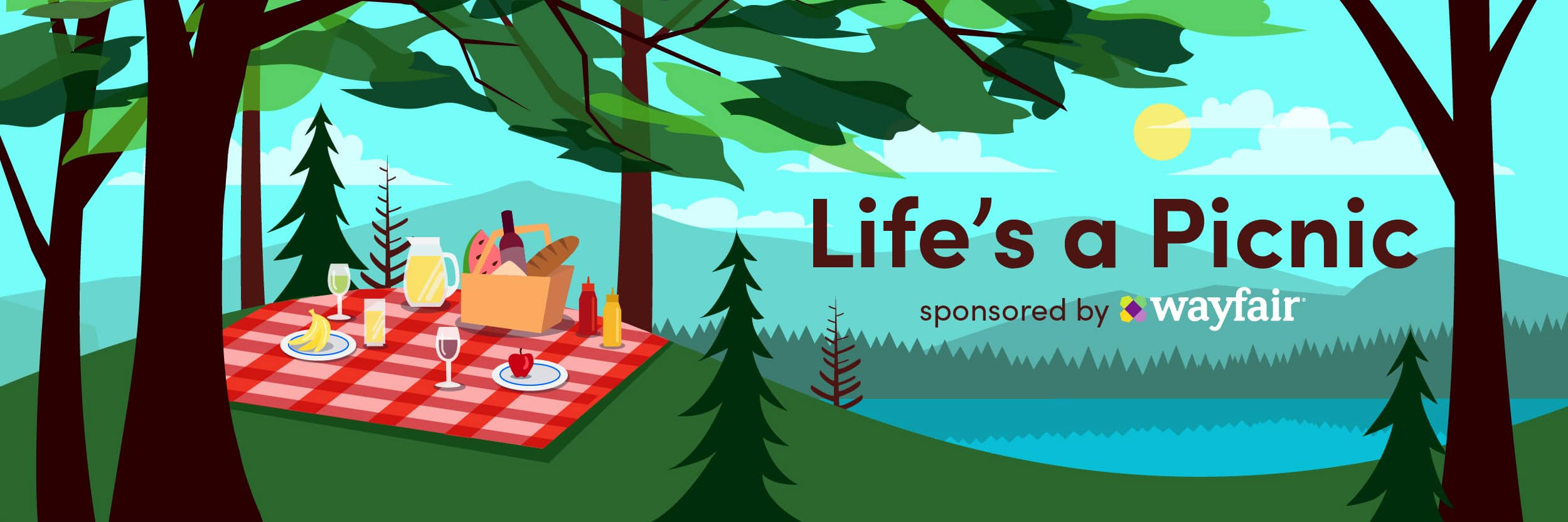 Life's A Picnic Banner
