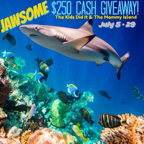 July Shark Week Cash Giveaway ends July 29, 2018