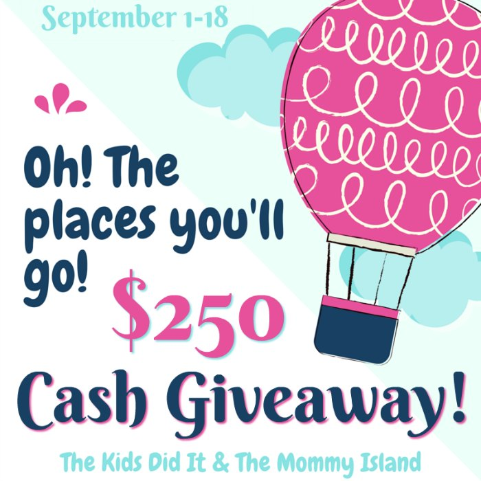 Oh! The Places You'll Go Cash Event ends September 18, 2018