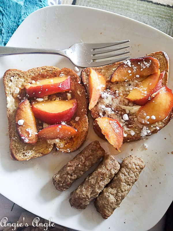 2018 Catch the Moment 365 Week 36 - Day 251 - French Toast and Peaches