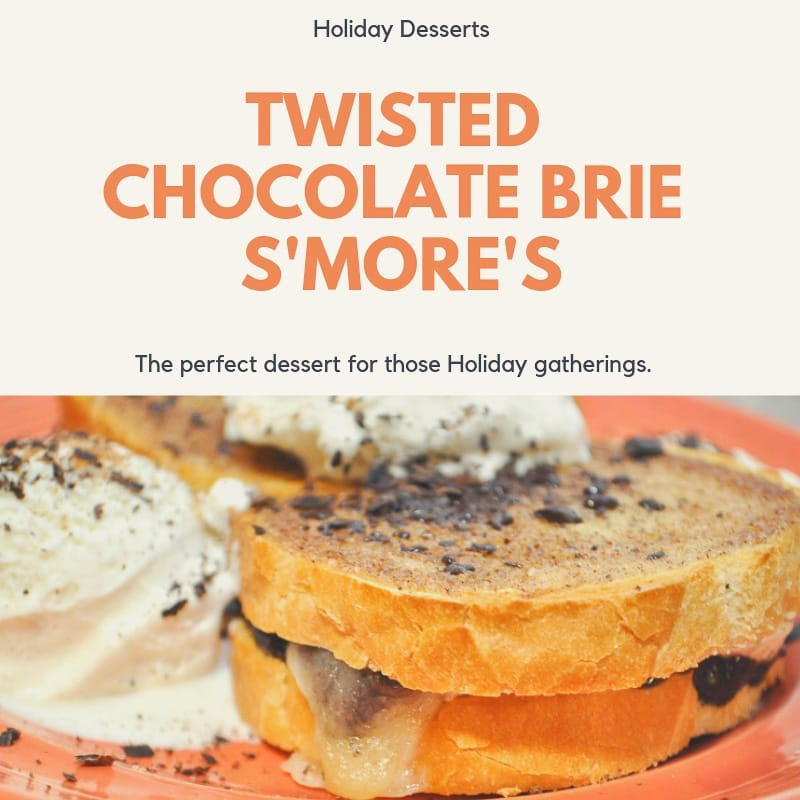 Twisted Chocolate Brie Smores - Social