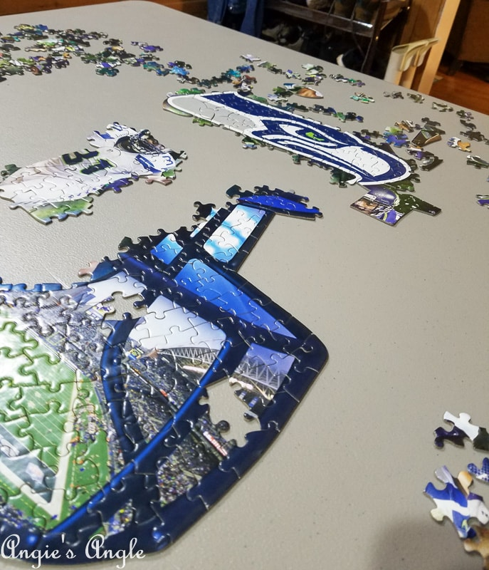 2019 Catch the Moment 365 Week 13 - Day 88 - Seahawk Puzzle Progress