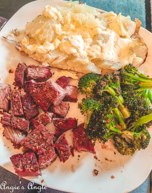 2019 Catch the Moment 365 Week 18 - Day 124 - Traeger Steak Dinner